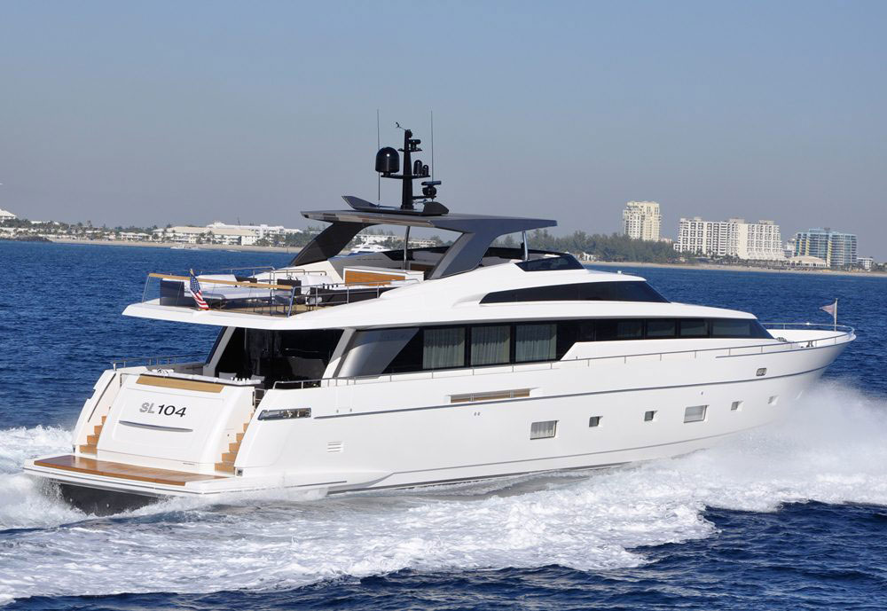 Sanlorenzo SL104 Yacht. A beautiful custom creation, this yacht offers its ...
