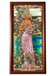 The Seasons Fine Leaded Stained Glass Panel by Mark Bogenrief