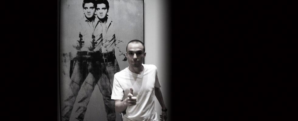 Andy Warhol's portrait of Elvis Presley depicted as a cowboy