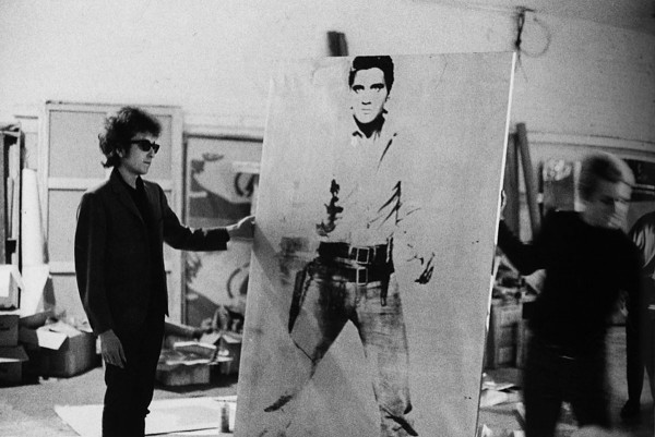 Andy Warhol's portrait of Elvis Presley depicted as a cowboy