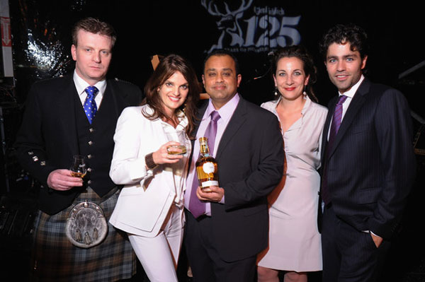 Glenfiddich Master Distiller Brian Kinsman, Brand Ambassador Heather Greene, Mahesh Patel, Glenfiddich Senior Brand Manager Lindsay Prociw and actor Adrian Grenier