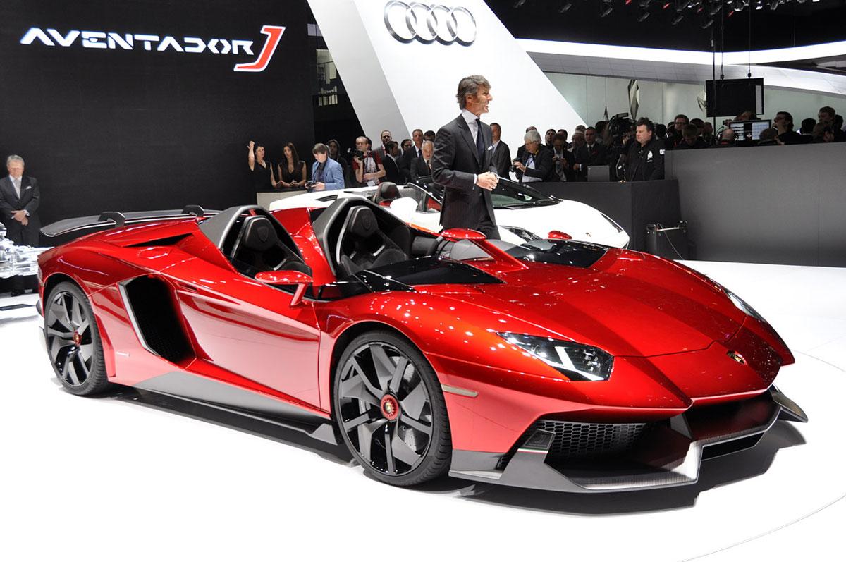 Lamborghini aventador j steals the 2012 geneva motor show for New paint car