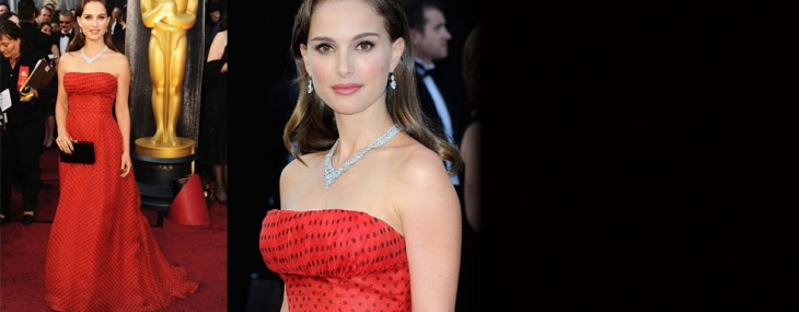 The red vintage Christian Dior gown worn by actress Natalie Portman to the Academy Awards last month