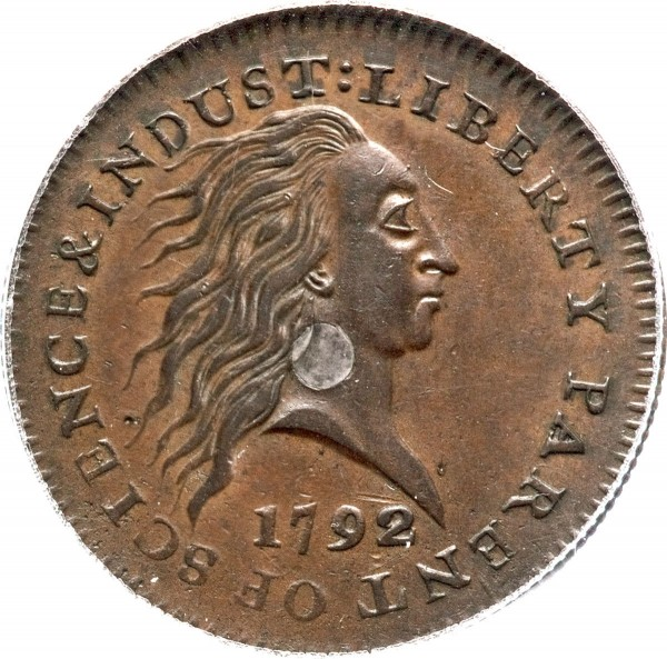1792 Silver Center Cent