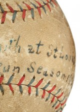 1921 Babe Ruth Home Run Baseball Could Fetch $50.000 At Heritage Auction