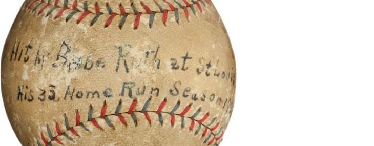 1921 Babe Ruth 136th Career Home Run Baseball