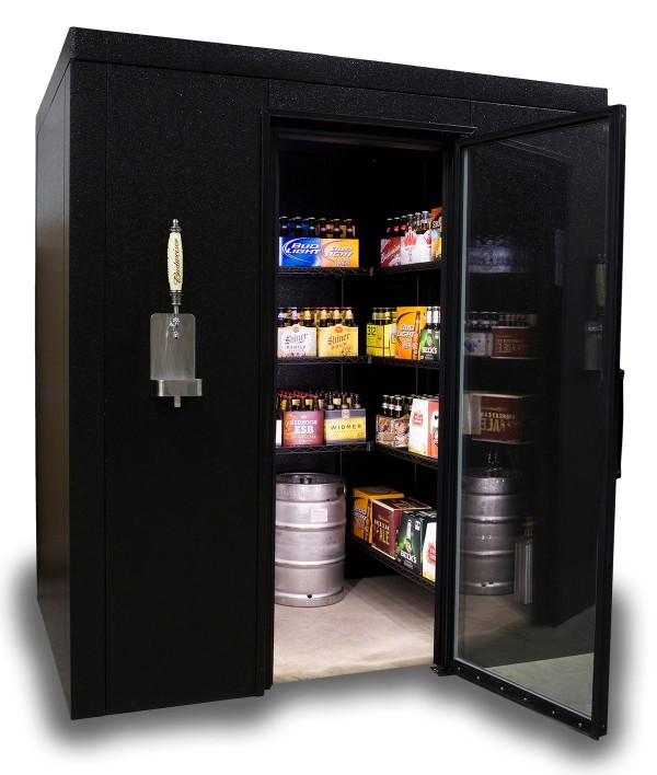 The BrewCave is the walk in cooler that has everything!