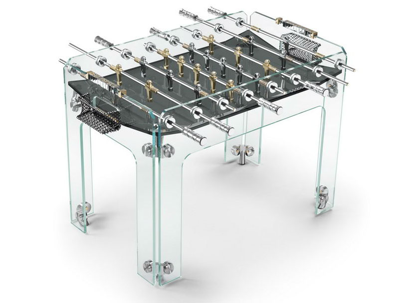 Cristallino Gold Football Table By Teckell Limited