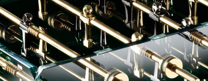Cristallino Gold Football Table by Teckell
