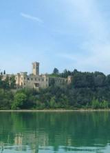 Guglielmi Castle on Island of Isola Maggiore in Italy
