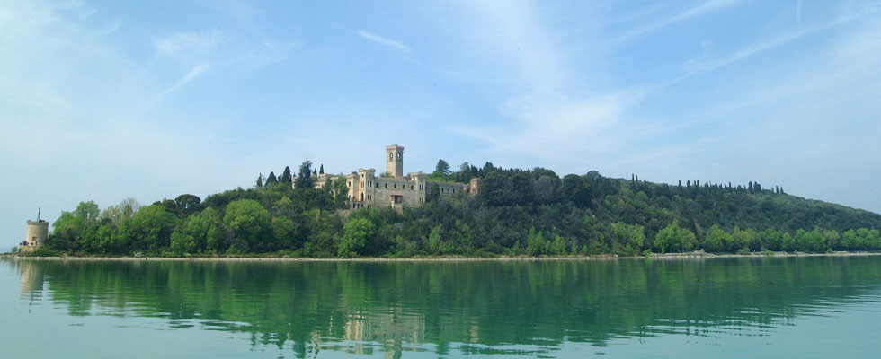 Guglielmi Castle on Island of Isola Maggiore in Italy for Sale