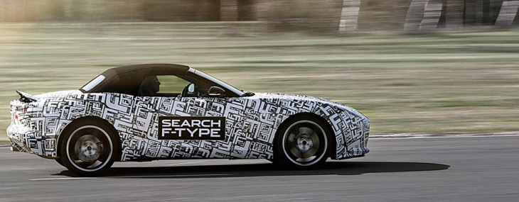 First picture of the camouflaged Jaguar F-Type revealed at the New York Auto Show (Copyright: Jaguar)