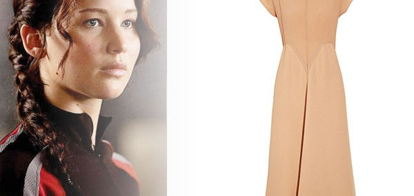 Jennifer Lawrence - Calvin Klein's Katniss Silk-crepe Dress