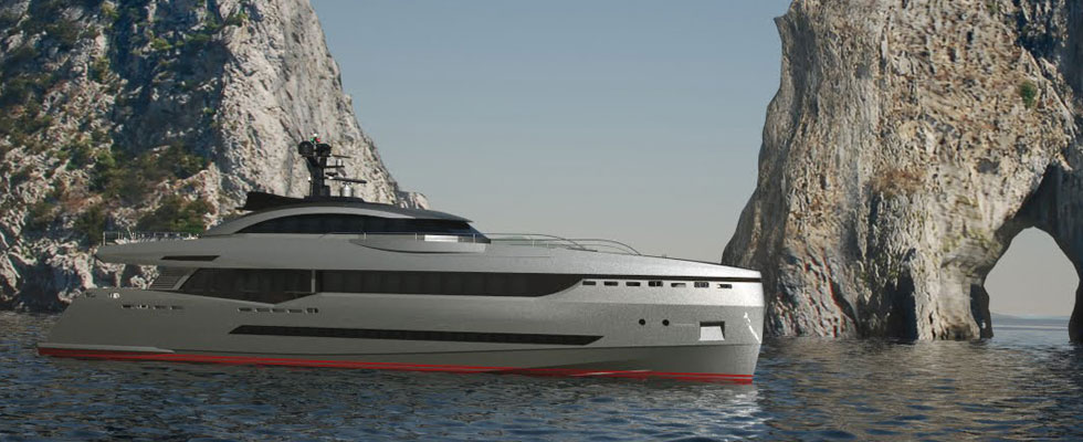Luxury Columbus Sport Hybrid 130 Superyacht Awaits For a Russian Owner