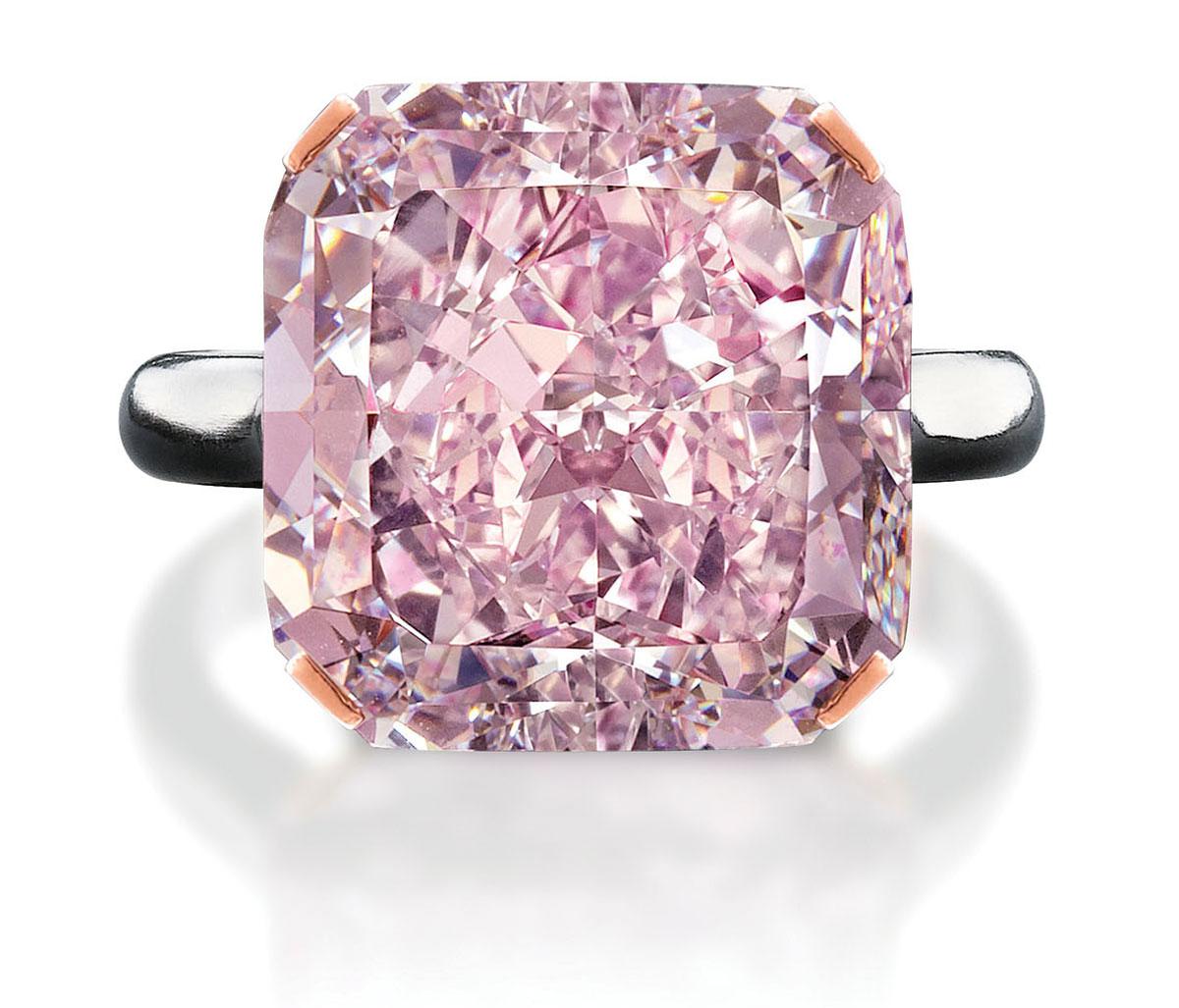 Rare 10-Carat Light Purplish Pink Diamond at Edmonton Jewelry Store ...