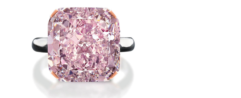 Rare 10-Carat Light Purplish Pink Diamond at Edmonton Jewelry Store