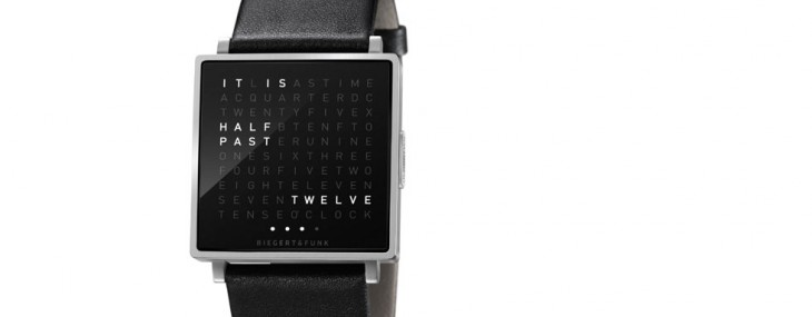 World′s First Wristwatch in Words – QLOCKTWO W