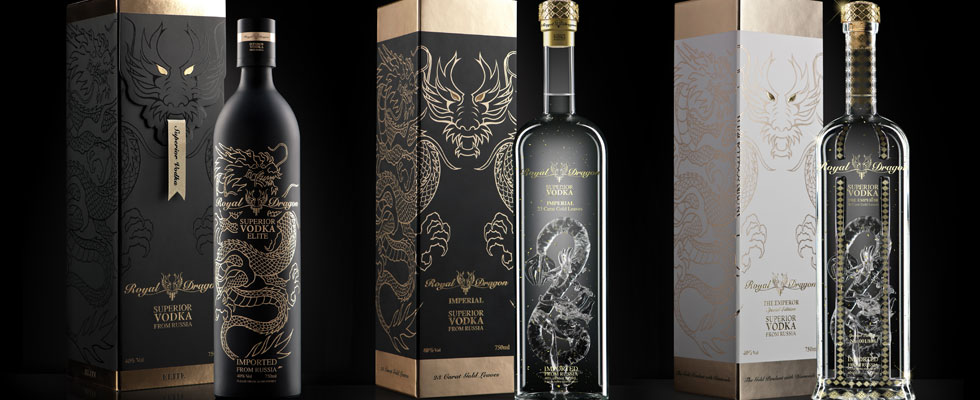 Royal Dragon Vodka With 23-carat Gold Flakes – Limited Edition