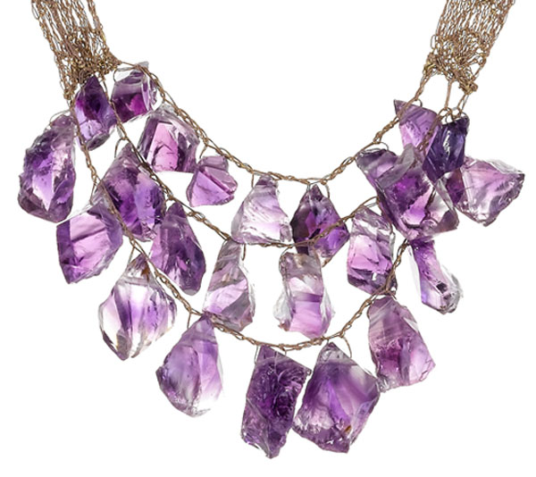 Shirley Ephraim's Rare Custom Made 200-carat Aquamarine Silk Lace Necklace