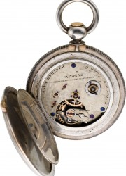 1820 Swiss gold skeletonized quarter hour repeater with automaton