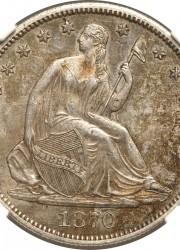 1870-CC Half Dollar, AU58+ NGC