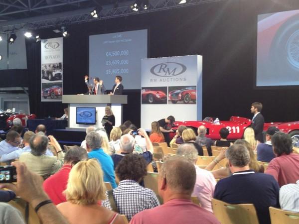 1957 Ferrari 625 TRC Spider fetches $6.5 million at auction