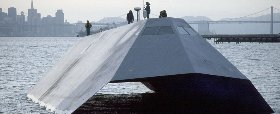 1983 Lockheed Martin Sea Shadow Stealth Ship