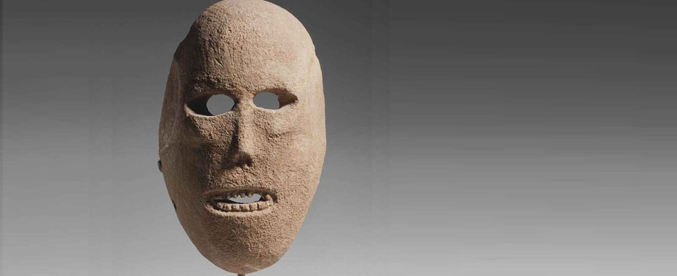 9,000 year old limestone mask from the Neolithic