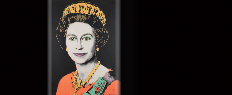 Proof Copy of Andy Warhol&#8217;s Portrait of Queen Elizabeth II for Sale at Bonhams
