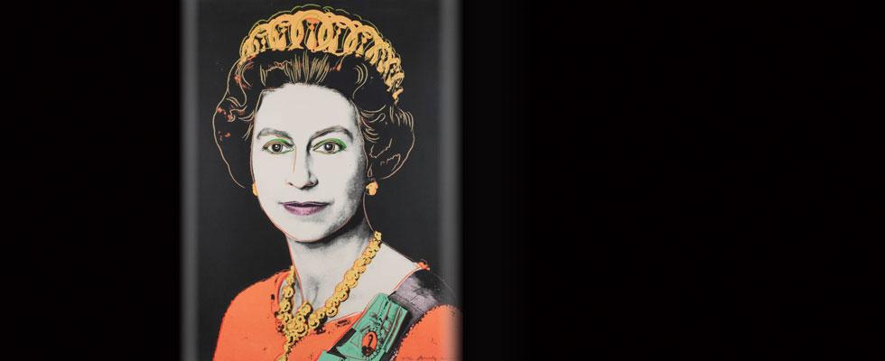 Proof Copy Of Andy Warhol S Portrait Of Queen Elizabeth Ii