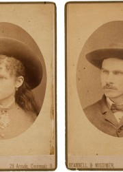 Annie Oakley & Frank Butler, A Rare Pair of Early Cabinet Photos, with Names in Butler's Hand on Verso