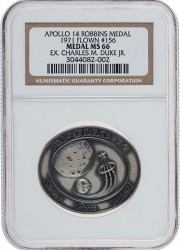 Apollo 14 Flown MS66 NGC Silver Robbins Medallion