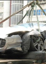 Aston Martin One-77 Smashed In a High-speed Accident