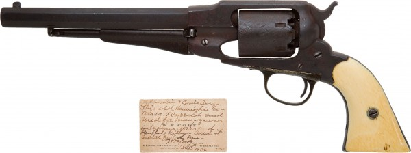 Buffalo Bill Cody acquired the Civil War-issue Remington New Model Army .44 percussion revolver