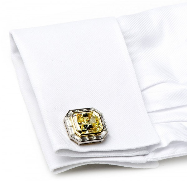 $4.2 Million Canary Diamond Cufflinks by Jacob &amp; Co. - World's Most Expensive
