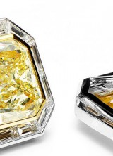 $4.2 Million Canary Diamond Cufflinks by Jacob & Co. - World's Most Expensive