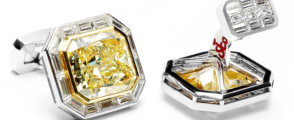 $4.2 Million Canary Diamond Cufflinks by Jacob &amp; Co. &#8211; World&#8217;s Most Expensive
