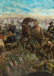 Custer's Last Rally, 1881, John Mulvany 's epic 11 x 20 foot oil painting
