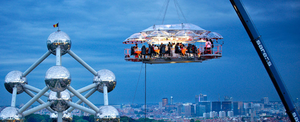 Dinner in the Sky to Feel Charm of High cuisine in Brussels