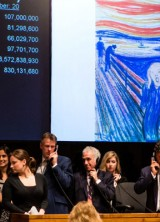 Tobias Meyer, Sotheby's Worldwide Head of Contemporary Art, selling The Scream.