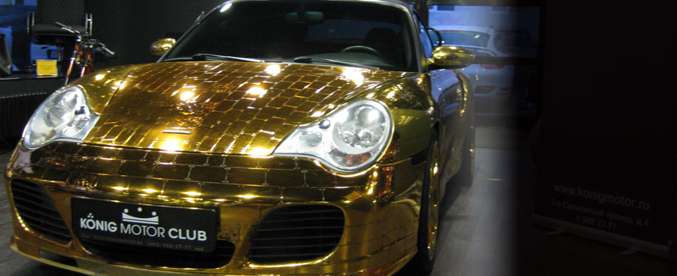 Gold Plated Porsche 996 Turbo Cabriolet on Sale for $61,000