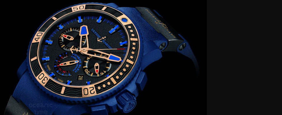 Ulysse Nardin Revealed Voyage Bleu Chronograph &#8211; Limited Edition