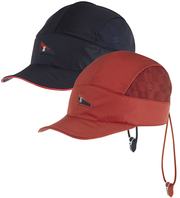 Louis Vuitton LV Cup Nylon Cap in Navy and Orange