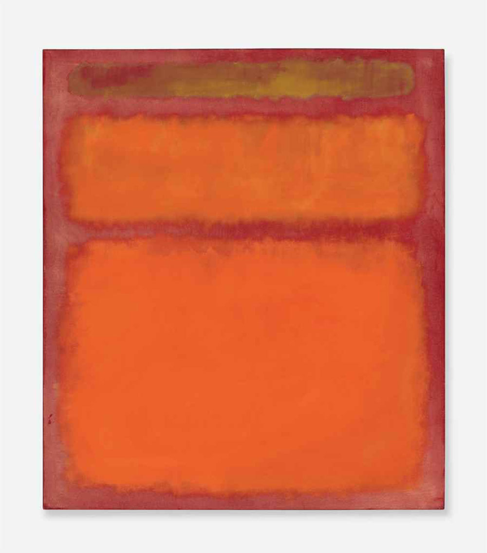 Red And Orange Painting Mark Rothko's Orange Red Yellow Painting Sets Postwar Auction .