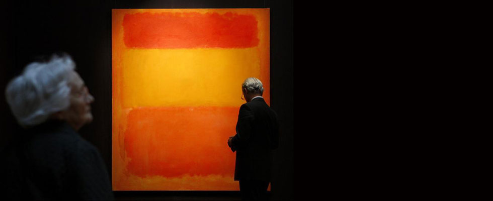 Mark Rothkos Orange, Red, Yellow Painting Sets post-war Auction Record with $86.9 Million