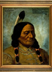 Oil portrait of Sitting Bull, painted from life by H. H. Cross in 1882 and actually signed by the Great Chief
