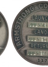 Silver Robbins medal from Apollo 11