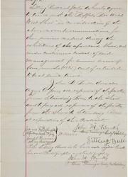 Sitting Bull's original 1885 contract for him to appear in Buffalo Bill's Wild West, signed by Sitting Bull (c. 1831-1890), at $25 a month