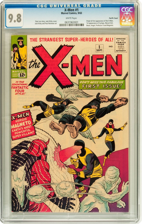The 9.8 Pacific Coast copy of X-Men #1