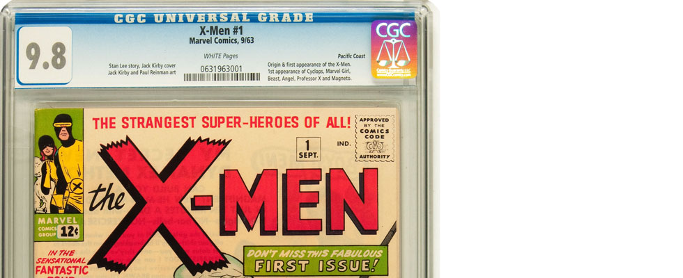 The 9.8 Pacific Coast copy of X-Men #1